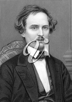 Campbell Morfit (1820-1897) on engraving from 1800s.American chemist. Engraved by C.Cook and published by W.Mackenzie.