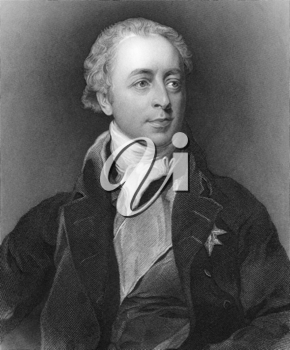 William Lowther, 1st Earl of Lonsdale (1757-1844) on engraving from 1800s. British Tory politician and nobleman. Engraved by T.A.Dean after a painting by T.Lawrence and published by G.Virtue.