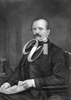 Otto von Bismarck (1815-1898) on engraving from 1873. Prussian German statesman and aristocrat. Engraved by unknown artist and published in ''Portrait Gallery of Eminent Men and Women with Biographies