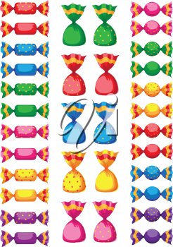illustration of a funny sweets candy
