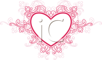 Royalty Free Clipart Image of a Heart Frame