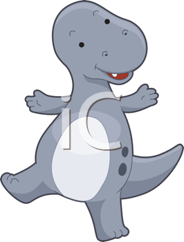 Royalty Free Clipart Image of a T-Rex