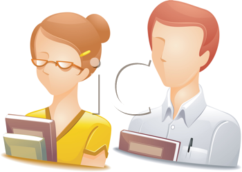 Royalty Free Clipart Image of Faceless Teacher