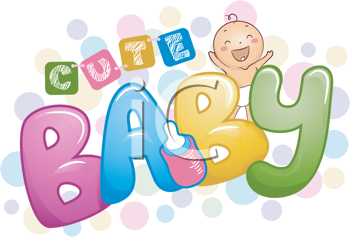 Royalty Free Clipart Image of a Cute Baby Design