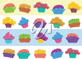 Border Illustration Featuring Cupcakes