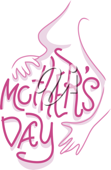 Text Illustration Celebrating Mothers' Day