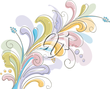 Illustration Featuring Ornaments with a Floral Theme