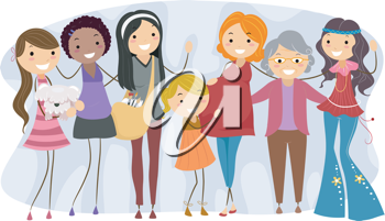 Illustration of Women from Different Generations