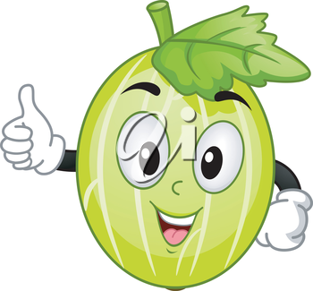 Mascot Illustration Featuring a Goose Berry Giving a Thumbs Up