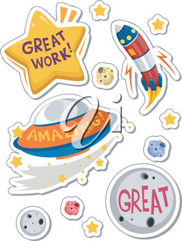 Illustration of Printable Achievement Stickers