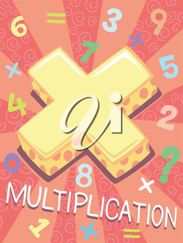 Illustration Featuring the Multiplication Symbol