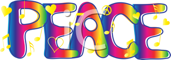 Royalty Free Clipart Image of the Word Peace