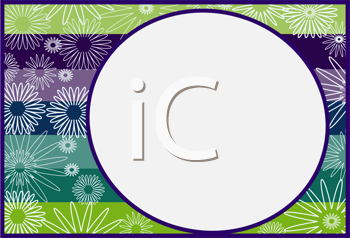 Royalty Free Clipart Image of a Framed Circle on a Flower Background