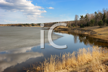 Royalty Free Photo of Ice Thawing on Water