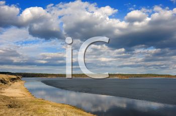 Royalty Free Photo of Ice on a Lake
