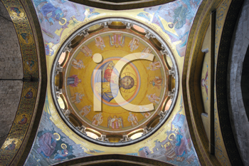 Royalty Free Photo of a Stained Glass Dome in a Church
