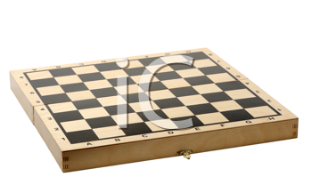 Empty chessboard on a white background, isolated