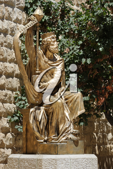Monument to King David on the Mount Zion in Jerusalem