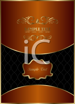 Royalty Free Clipart Image of an Ornate Template