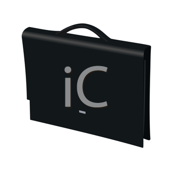 Royalty Free Clipart Image of a Black Business Bags