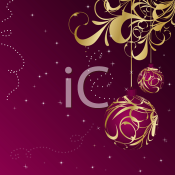 Royalty Free Clipart Image of an Elegant Christmas Background