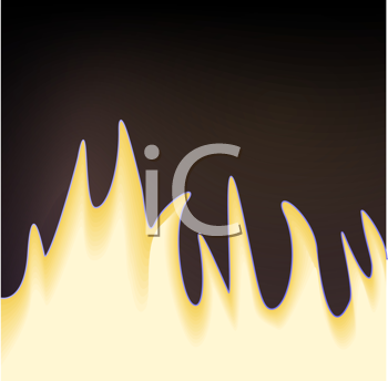 Royalty Free Clipart Image of Flames