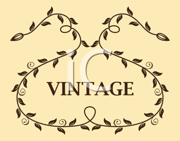 Royalty Free Clipart Image of a Vintage Template