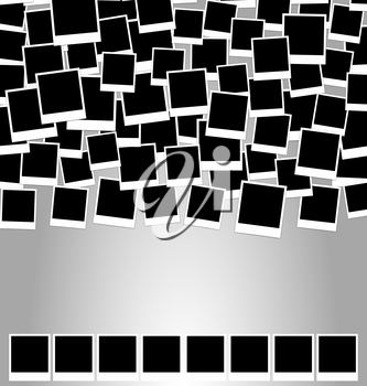 Collection photo frame for design scrapbook space for your text - vector
