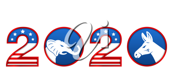 Presidential Election 0f USA 2020. Vote, Voting. American Advertise - Illustration Vector