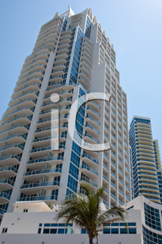 Royalty Free Photo of a High Rise in Miami