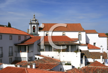 Royalty Free Photo of Red Roofs in a Small Historical European Town