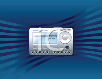Royalty Free Clipart Image of a Stereo Satellite Receiver