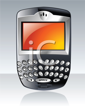Royalty Free Clipart Image of a Personal Cellphone