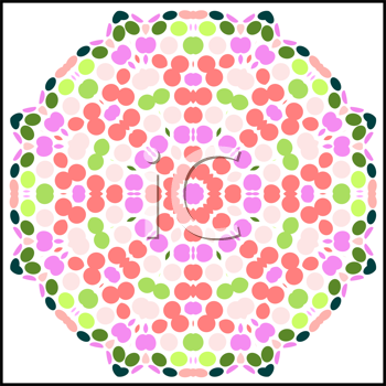 Royalty Free Clipart Image of a Floral Pattern