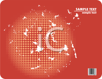 Royalty Free Clipart Image of a Background With a Circle and Space for Text