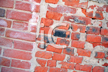 an old red brick wall background image.