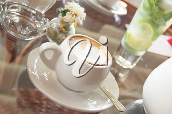 tea cup on the table in diffuse light