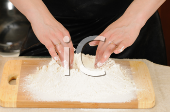 Royalty Free Photo of a Woman Baking