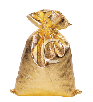 Gift bag isolated on the white background.(clipping path included)