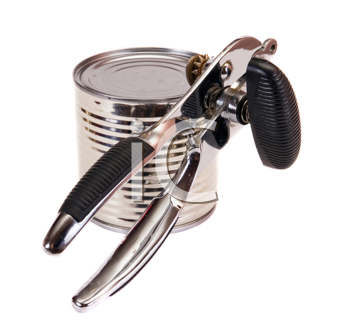 Royalty Free Photo of a Can and Can Opener