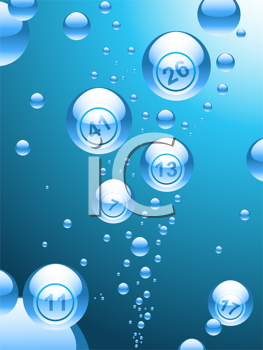 Royalty Free Clipart Image of an Abstract Bingo Ball Background