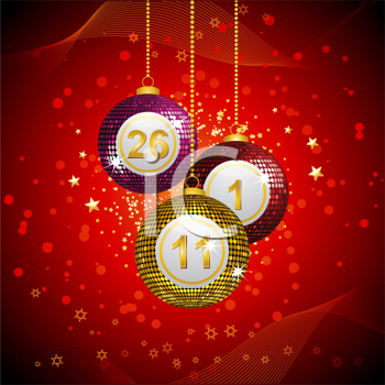 Royalty Free Clipart Image of Sparkling Christmas Ornaments