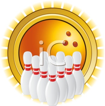 Royalty Free Clipart Image of a Ten Pin Bowling Image Bowling Ball