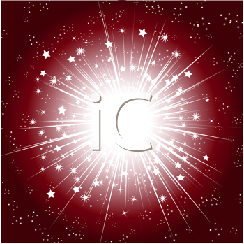 Royalty Free Clipart Image of an Abstract Background With White Explosive Stars