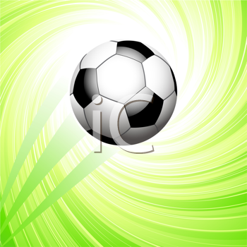 Royalty Free Clipart Image of a Soccer Ball Background