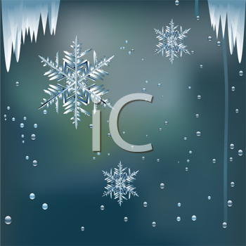 Royalty Free Clipart Image of an Icy Window