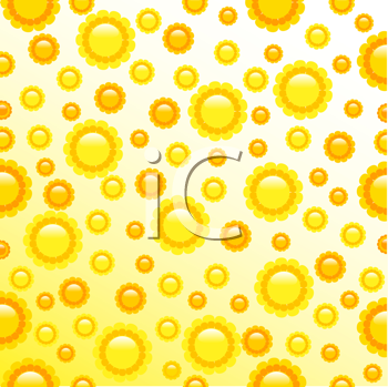 Royalty Free Clipart Image of a Yellow Daisy Background