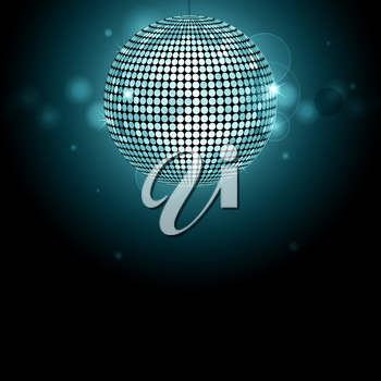 Disco ball background with glows