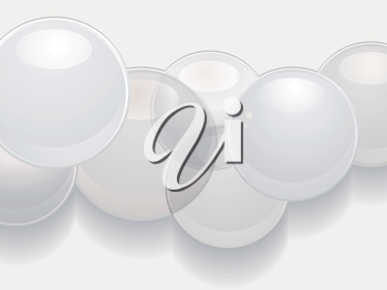 White 3d Sphere Background with Shadow