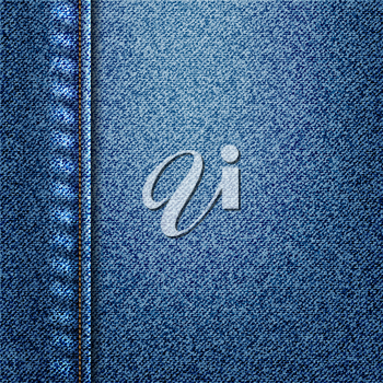 Royalty Free Clipart Image of a Denim Background
